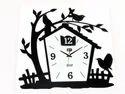 House Shape Metal Wall Clock