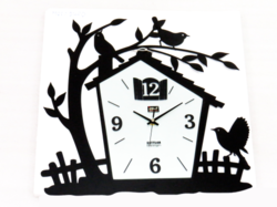 House Shape Metal Wall Clock