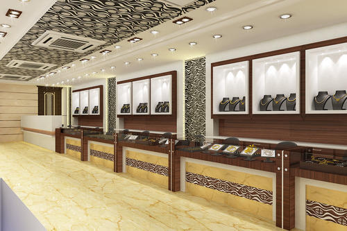 Jewellery Showroom Interior Designers In Bharat Vihar New