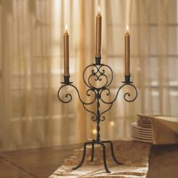 Decorative Iron Candelabra