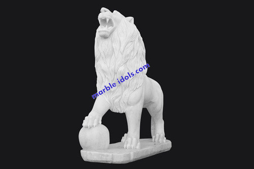 White Marble Small Animals Statue, Size/Dimension: 2 To 6 Feet, for Decoration