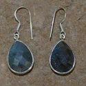 Designer Labradorite Silver Earring