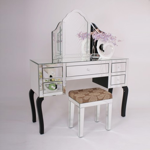 Mirrored Gl Dressing Table