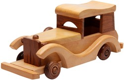 3-5 yrs Wood Wooden Vincent Car Toy, for kids