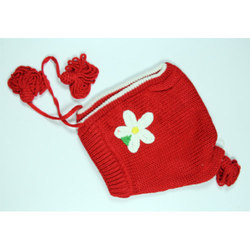 Red Kids Woolen Skull Cap