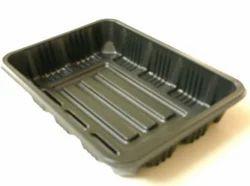 Pack Knack Plastic 500g Black Punnet Trays