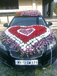 Wedding car decoration in pune wedding car decoration junglespirit Image collections