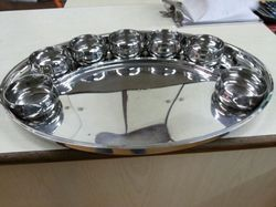 Steel Oval Thali Set