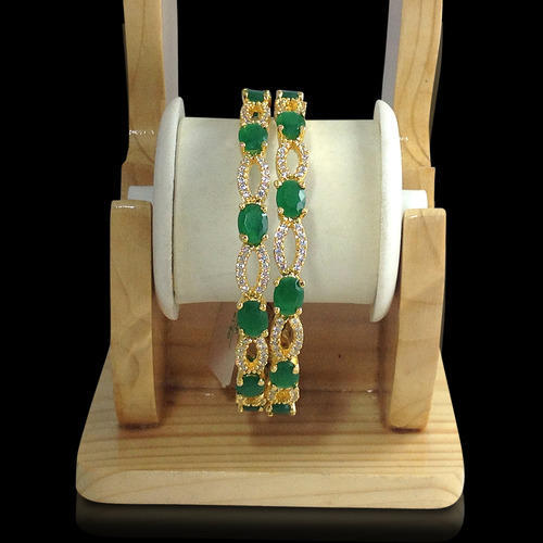 large az ruby emerald plated glowroad women at gold traditional bangles for