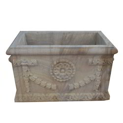 Carving Stone Planter