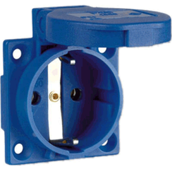Blue Schuko Socket 16 AMPERE 2 PIN, 220 V