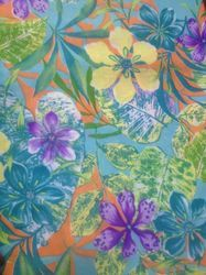 Polyester Reactive Printed Fabric