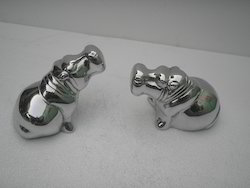 Metal Hippo Pair
