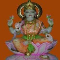 Hindu Goddess Lakshmi Marble Statue