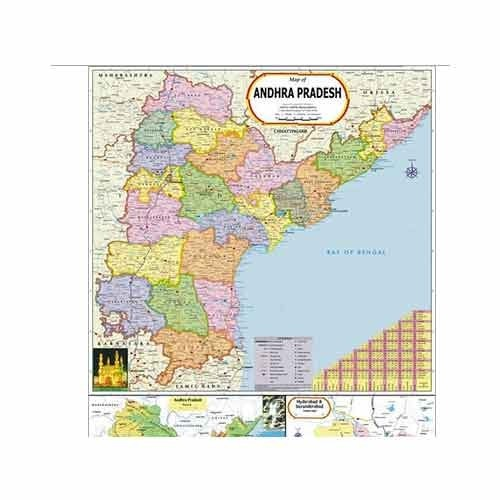 Andhra Pradesh Map at Rs 110 /piece | Political State Maps | ID ...