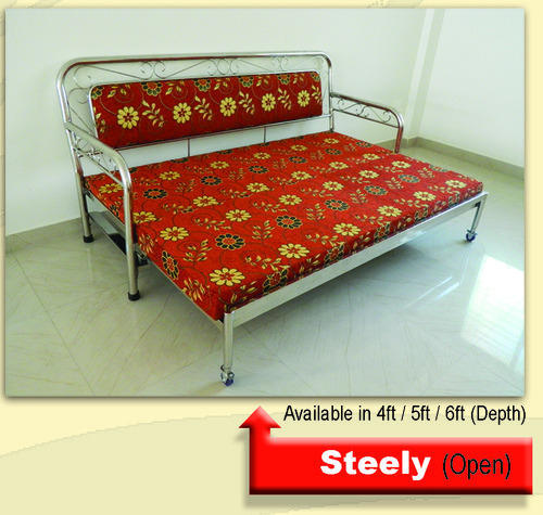 Stainless Steel Sofa Cum Bed Stainless Steel Sofa Cum Bed