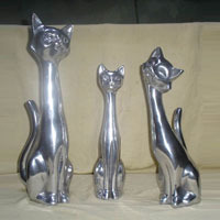 Aluminum Cat Sculpture