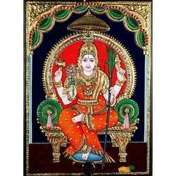 Kamatchi Amman Tanjore Painting (With Frame)