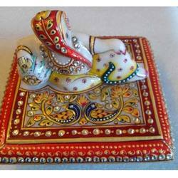Marble Ganesh Chowki Fine