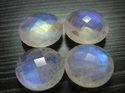 Blue Fire Rainbow Moonstone Round Checker Briollite