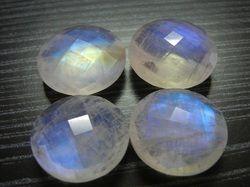 Rainbow Moonstone Round Checker Briollite