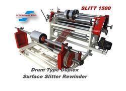 2 Kw 50 Hz Drum Type Duplex Slitting Rewinding Machine