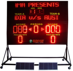Solar Powered Multipurpose Electronic LED Scoreboard