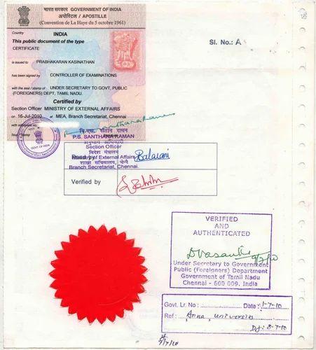 Commercial Certificate Affidavit Apostille In Varacha, Surat, Surat Apostille, Embassy