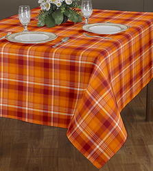 Checked Printed Tablecloth
