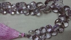 Pink Amethyst Faceted Heart Shape