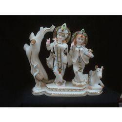 Radha Krishna Jugal Jodi Statue With Cow