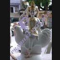 White Marble Bahuchara Mata Statues