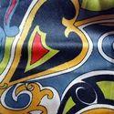 Screen Printed Silk Satin Fabric