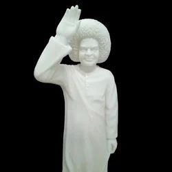 Marble Sri Sathya Sai Baba Statue