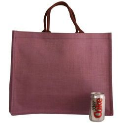 Plain Loop Handle Jute Shopping Bag, Size: 17