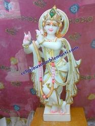 Makrana Marble Krishna Statue