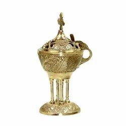 Embossed Brass Incense Burner