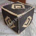 Wool Kilim Pouf