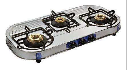 Three Burner Gas Stove at Rs 1850 unit Gas Stoves Stainless Steel