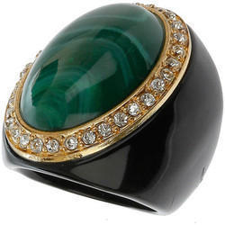 Designer Green Stone Ring