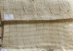 Plain Organic Eri Silk Crinkle Fabric, Use: Curtains