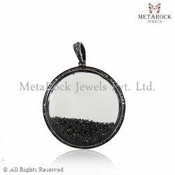 Crystal Gemstone Diamond Pendant
