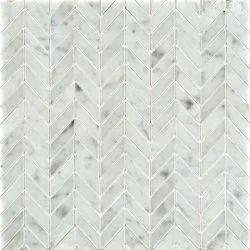 Carrara Mosaic Small Herringbone Tiles