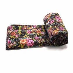 Cotton Floral Kantha Quilt