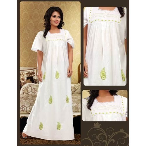 Cotton Nightie - Fancy Cotton Nightie Exporter from New Delhi 994cddb7f