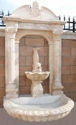 White Garden Wall Fountain
