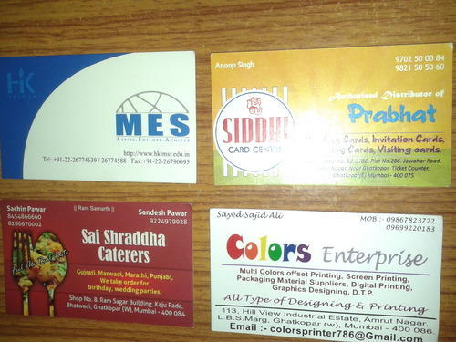 Offset 4 Colors Uv Spot Lamination Visiting Card Colors Enterprise