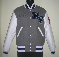 Grey White Varsity Jacket