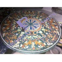 Round Stone Table Top Plate