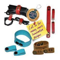 Genuine Leather Designer Wire Managers Corporate Gifts- Accessories